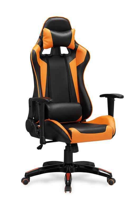 Kancelářská židle DEFENDER černé/oranžové