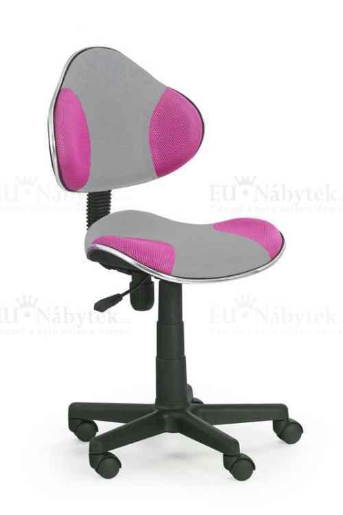 Dětská židle FLASH 2 růžová/šedá