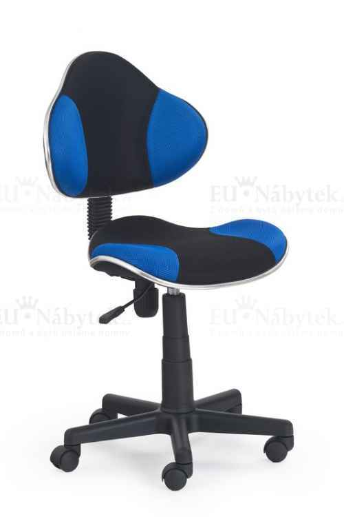 FLASH fotel młodzieżowy czarno-niebieski