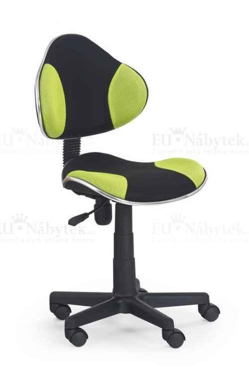 FLASH fotel młodzieżowy czarno-zielony