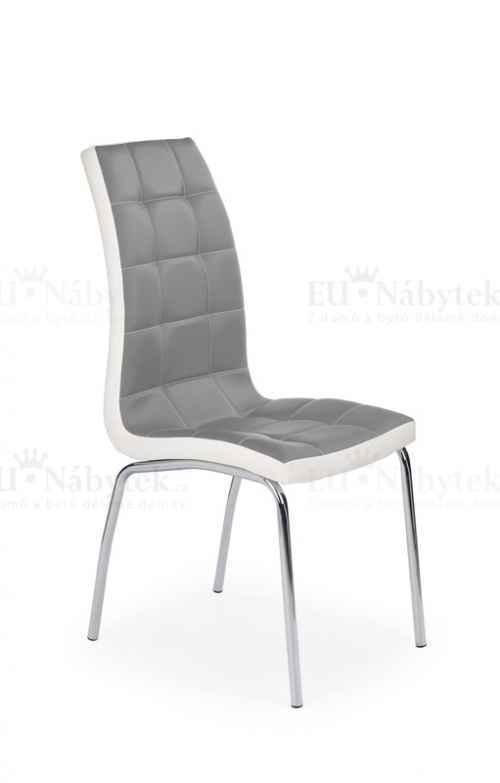 Jídelní židle K186 šedá / bílá