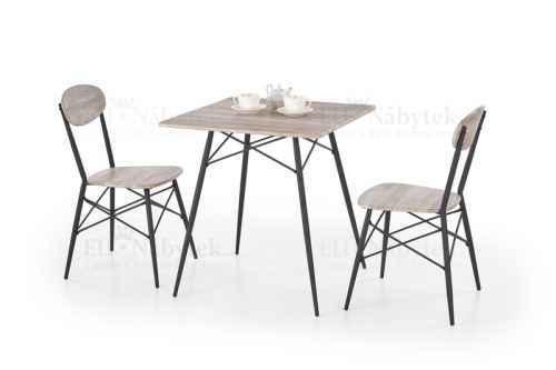 Jídelní sestava KABIR stůl + 2 židle dub san remo / černá