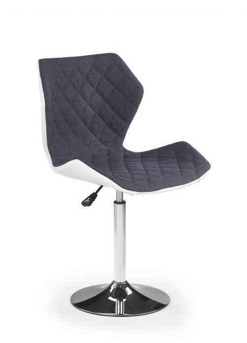 Barová židle MATRIX 2 bílá / šedá