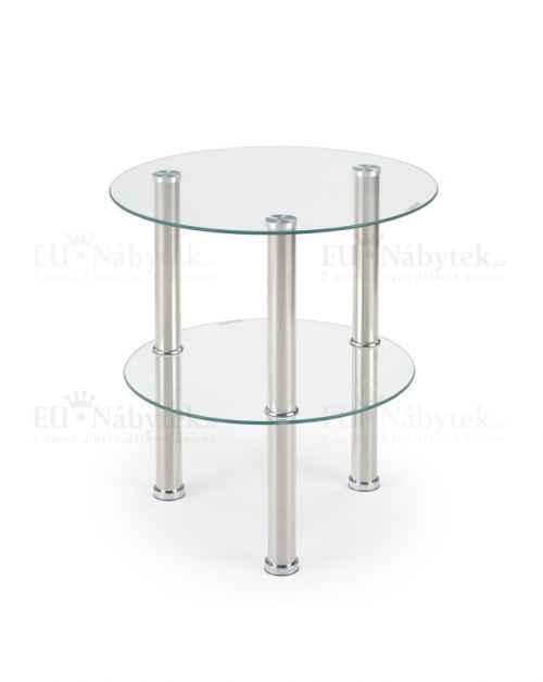 Konferenční stolek SARDINIA čiré sklo