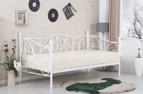 Kovová postel SUMATRA bílá