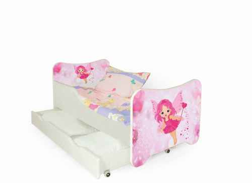 HAPPY FAIRY łóżko biało / różowe (1p=1szt)