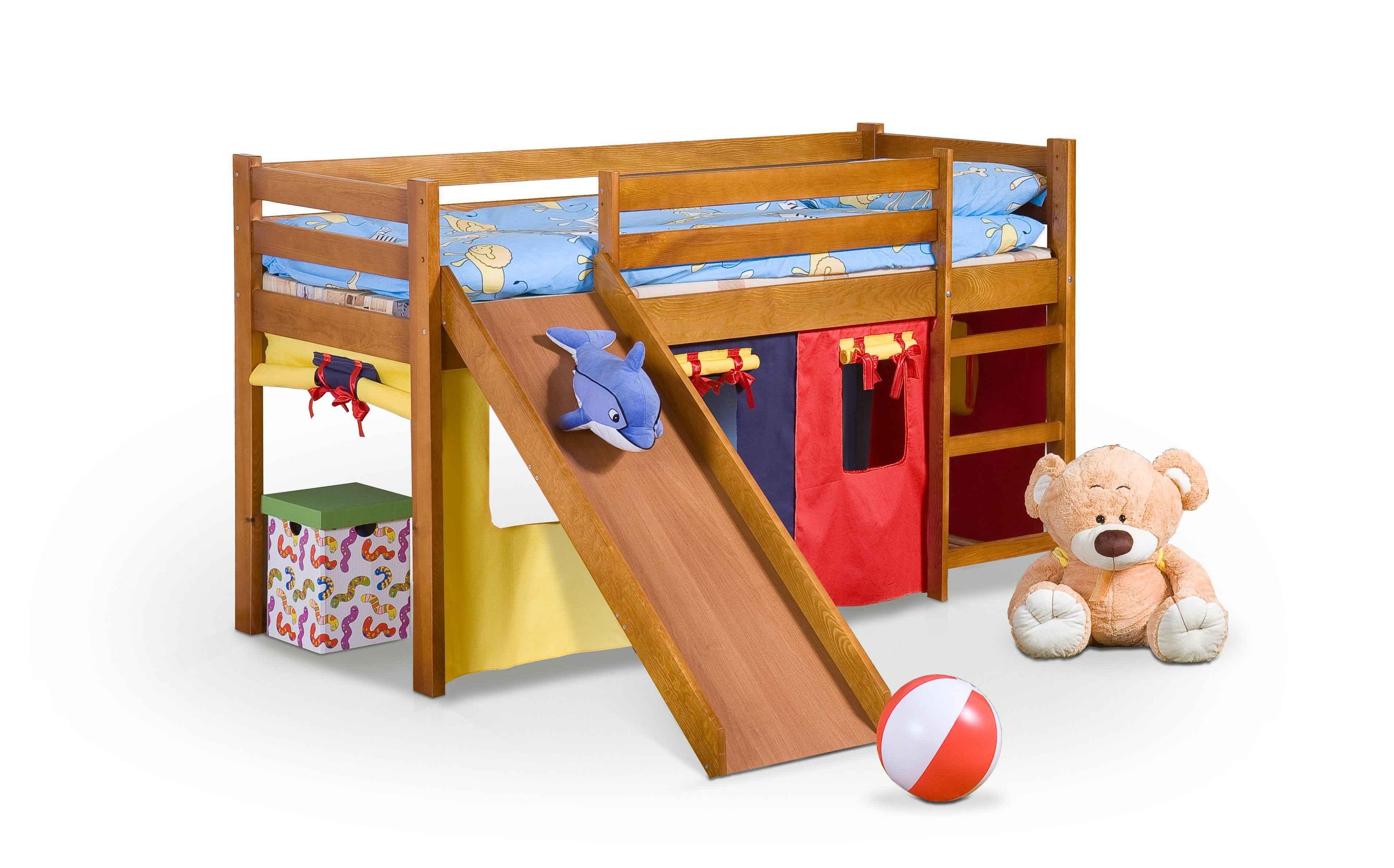Patrová postel NEO PLUS se skluzavkou i matrací