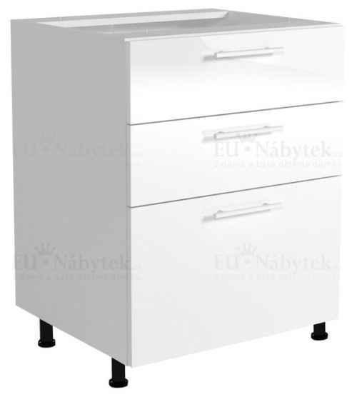 VENTO D3S-60/82 szafka dolna z szufladami front: jasny popiel (1p=1szt)