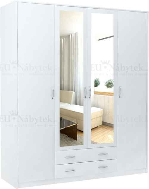 Šatní skříň VIKTOR 4D bílá