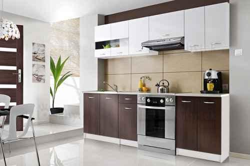 Kuchyňská linka INGRID 240 wenge/bílá DOPRODEJ