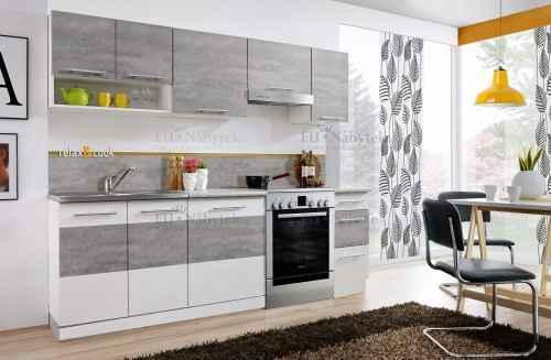 Kuchyňská linka REMINI 240 beton/bílá