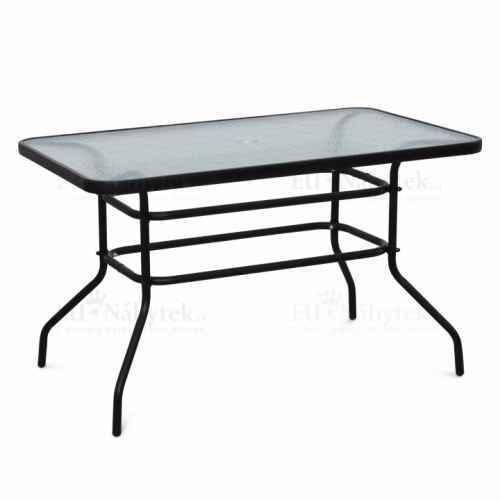 Jídelní stůl, tvrzené sklo / ocel, Demat NEW