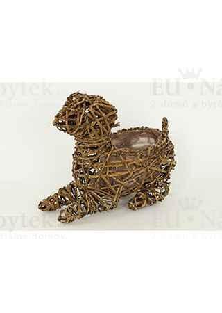 Obal ratanový - tvar psa (pro obal pr. 15cm)