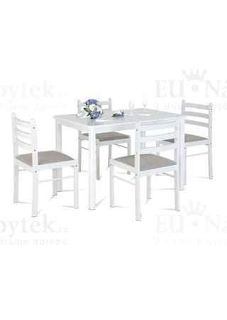 Set 1+4, 114x70 cm, barva bílá