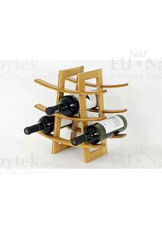 Stojan na víno, bambusový