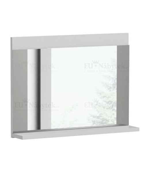 Zrcadlo LUMIA L1 s poličkou bílá mat