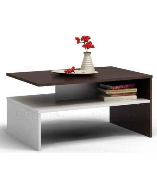 Konferenční stolek VANDAM wenge/bílá