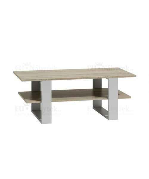 Konferenční stolek MARTES dub sonoma/bílá