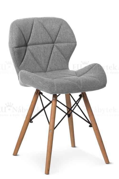 Skandinávská židle LIOTTE šedá látka