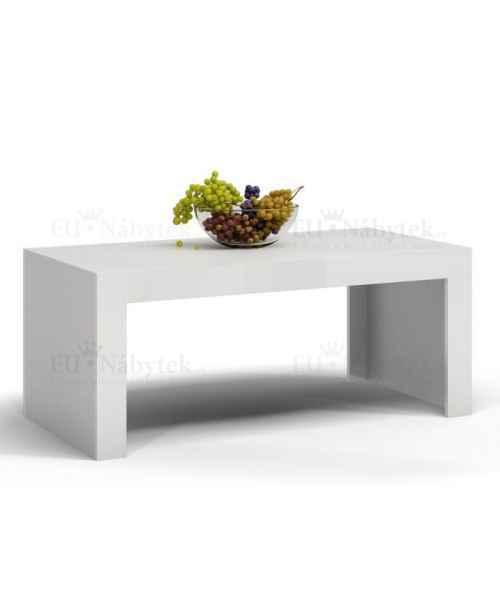 Konferenční stolek DEMO bílá/bílá lesk