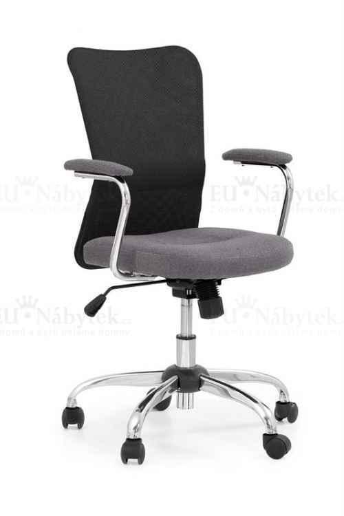 Kancelářská židle ANDY šedá / černá