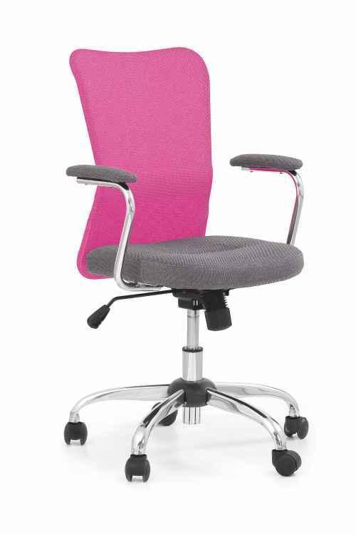 Kancelářská židle ANDY šedá / růžová