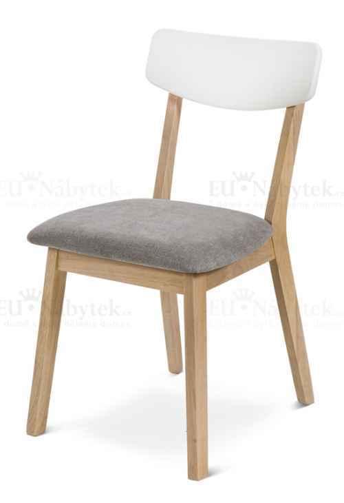 Jídelní židle MAROKO šedá/bílá