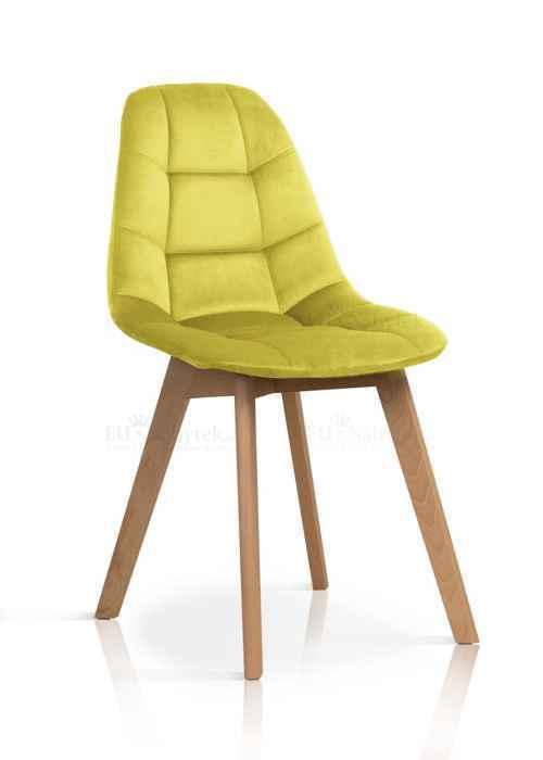 Skandinávská židle WEST žlutá DOPRODEJ