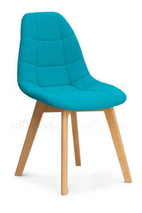 Skandinávská židle WEST tyrkysová DOPRODEJ