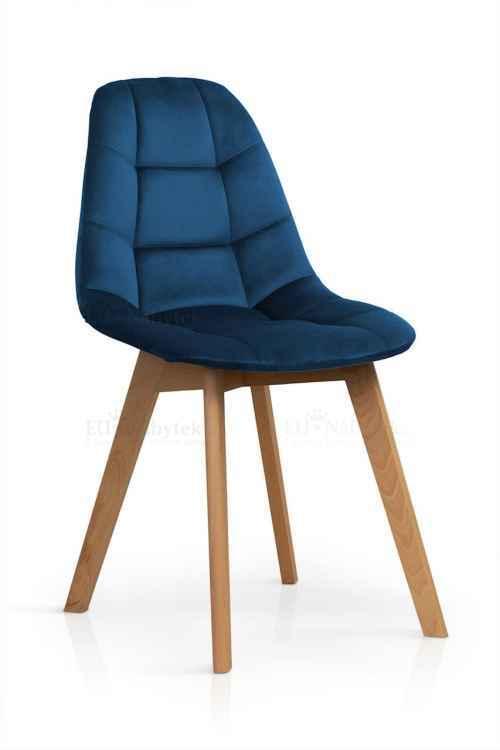Skandinávská židle WEST modrá