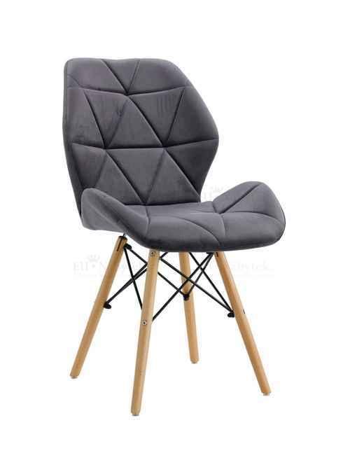 Skandinávská židle LIOTTE BIG tmavě šedá