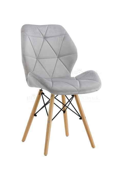 Skandinávská židle LIOTTE BIG světle šedá