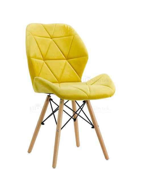 Skandinávská židle LIOTTE BIG žlutá