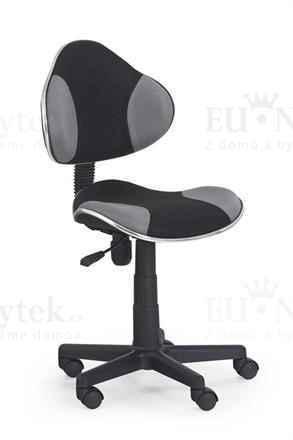 Dětská židle FLASH černá/šedá