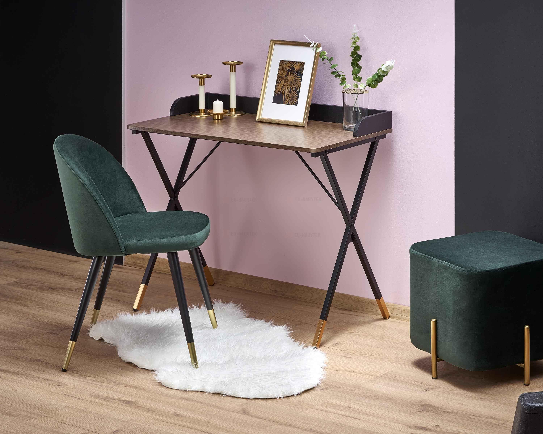 Stůl B37 černá / přírodní / zlatá