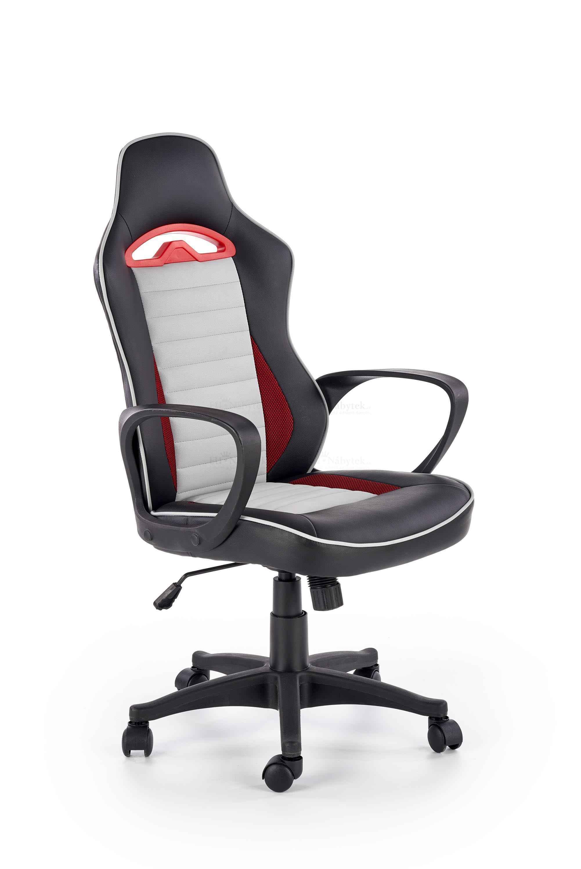 Kancelářské křeslo BERING černá / červená / šedá
