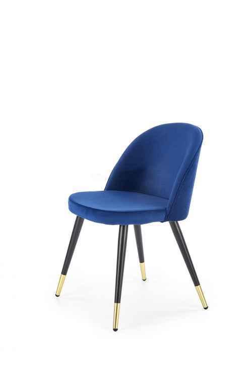 K315 krzesło nogi - czarny / złoty, tapicerka - granatowa
