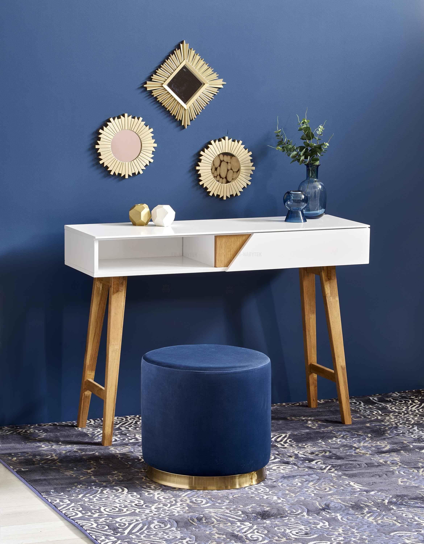 Toaletní stolek KN1 bílá/dřevo