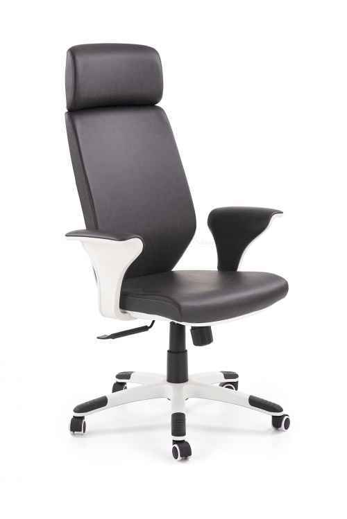 LONATTI fotel gabinetowy czarny / biały