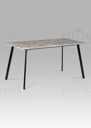 Jídelní stůl 150x80x76, MDF beton, kov matná černá