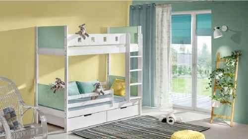 Dětská patrová postel HUBERTOS výběr barev