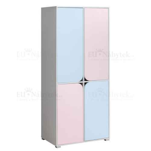 Šatní skříň MINNIE růžová/modrá