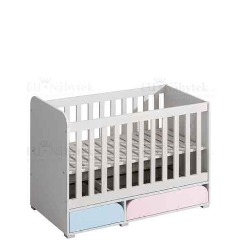 Dětská postýlka MINNIE růžová/modrá