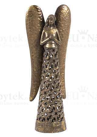 Anděl, kovová dekorace