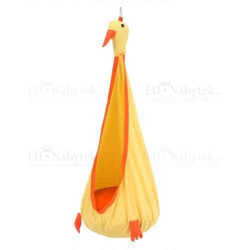 Závěsné křeslo, žlutá / oranžová, TOLO
