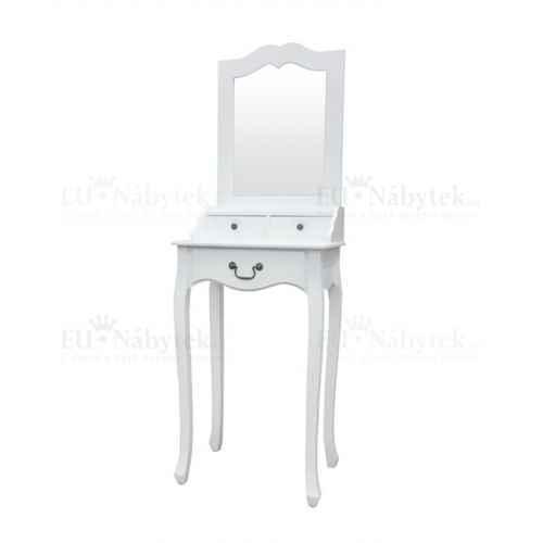 Toaletní stolek, toaletka, bílá, GINO