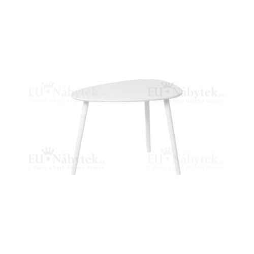 Příruční stolek, bílá, DANZ