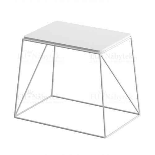 Příruční stolek, bílá, KAREL