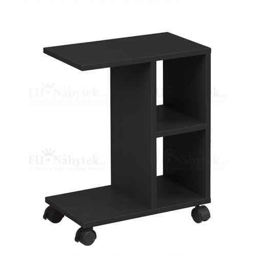 Příruční stolek, černá, ABBAS NEW