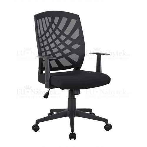 Kancelářské křeslo, černá, VIDAL